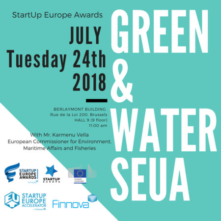 The final of the Green and Water categories of the StartUp Europe Awards will be held on the 24th of July